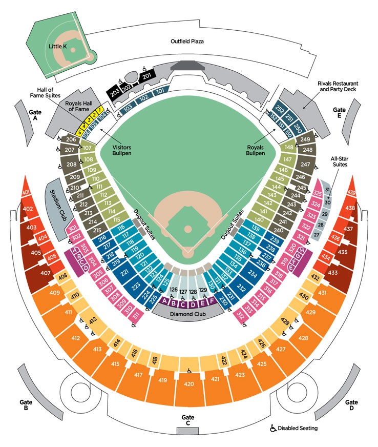 Awesome Kauffman Stadium Seating Chart With Rows