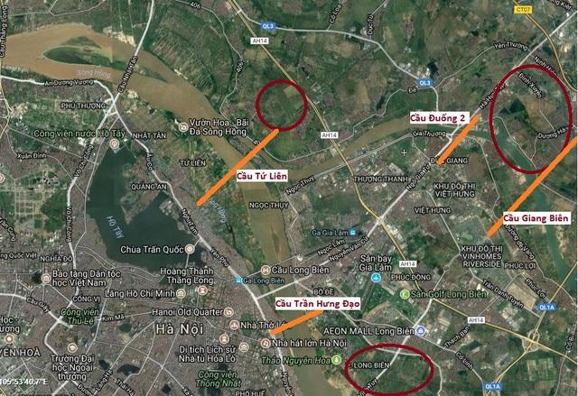 Sẽ có 5 cây cầu được xây mới tại Hà Nội thời gian tới.
