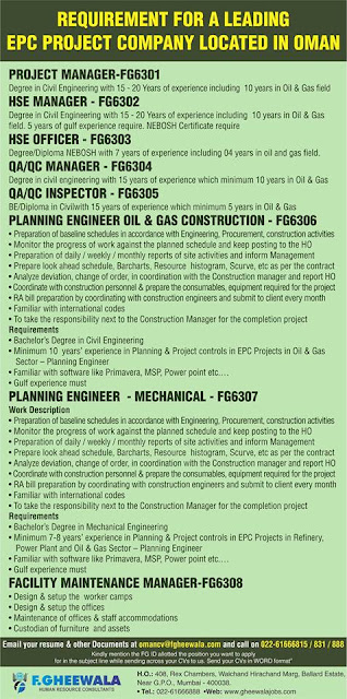 Requirement for a Leading EPC Project Company-Oman