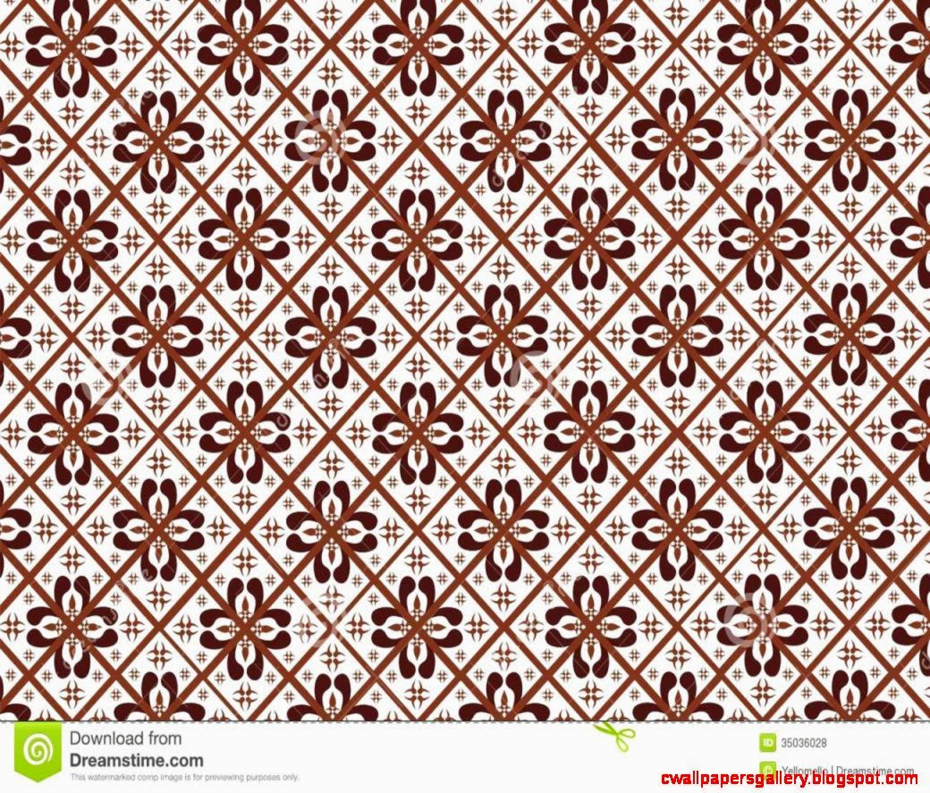 Retro Batik Design Indonesia Culture Wallpaper