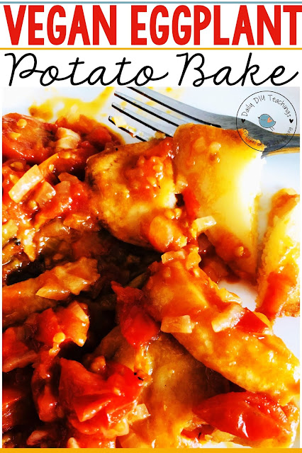 Looking for an easy meal to feed the whole family? Are you also sometimes stumped on what to make for lent or meat-free weekdays? This super easy Vegan Eggplant and Potato Vegetarian Bake will be a family favourite in no time! The juicy tomatoes in this dish will make even meat eaters want to taste it.