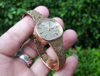 Jam Tangan Antik Favre Leuba 0407 Ladies Watch 18K Gold Plate Manual Winding
