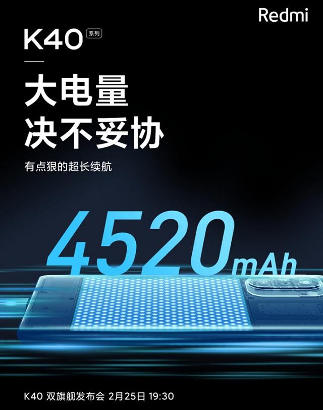 Xiaomi Redmi K40 và K40 Pro màn hình pin