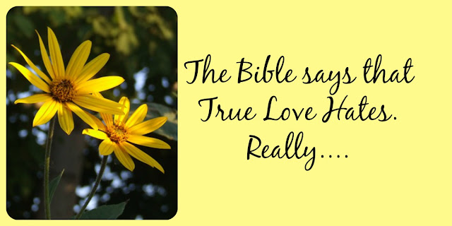 True Love Hates - Yes! True love hates evil - Romans 12:9