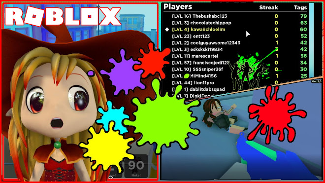 Roblox BIG Paintball Gameplay! Noob Me and Chocolate score top 3
