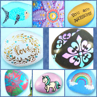 Rock Painting For Beginners collage 1