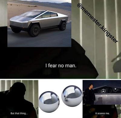 Tesla CyberTruck Meme by @memester.kingster on Instagram