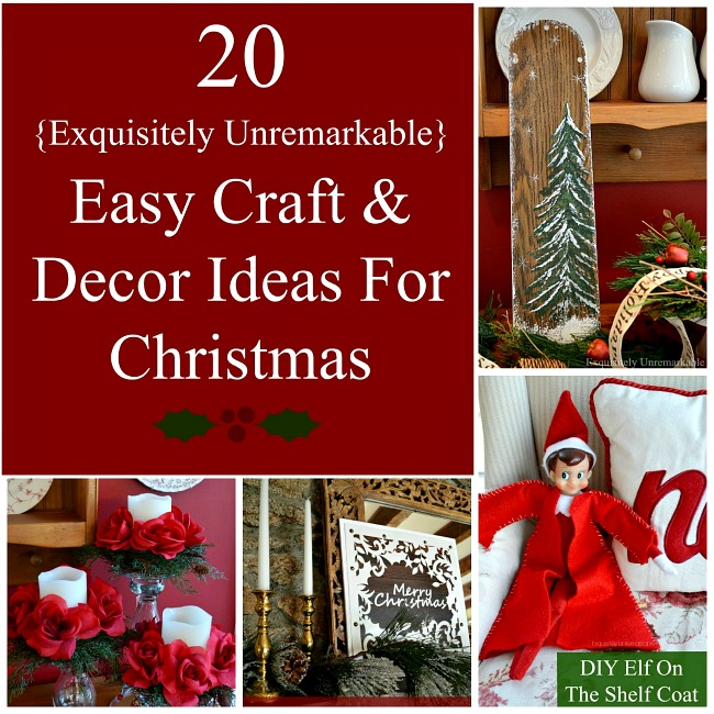20 Easy Christmas Home Decor Craft Ideas For Adults