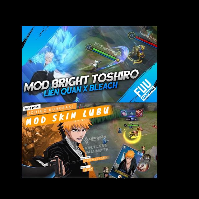Hướng dẫn mod skin lữ bố ICHIGO KUROSAKI  và Bright TOSHIRO