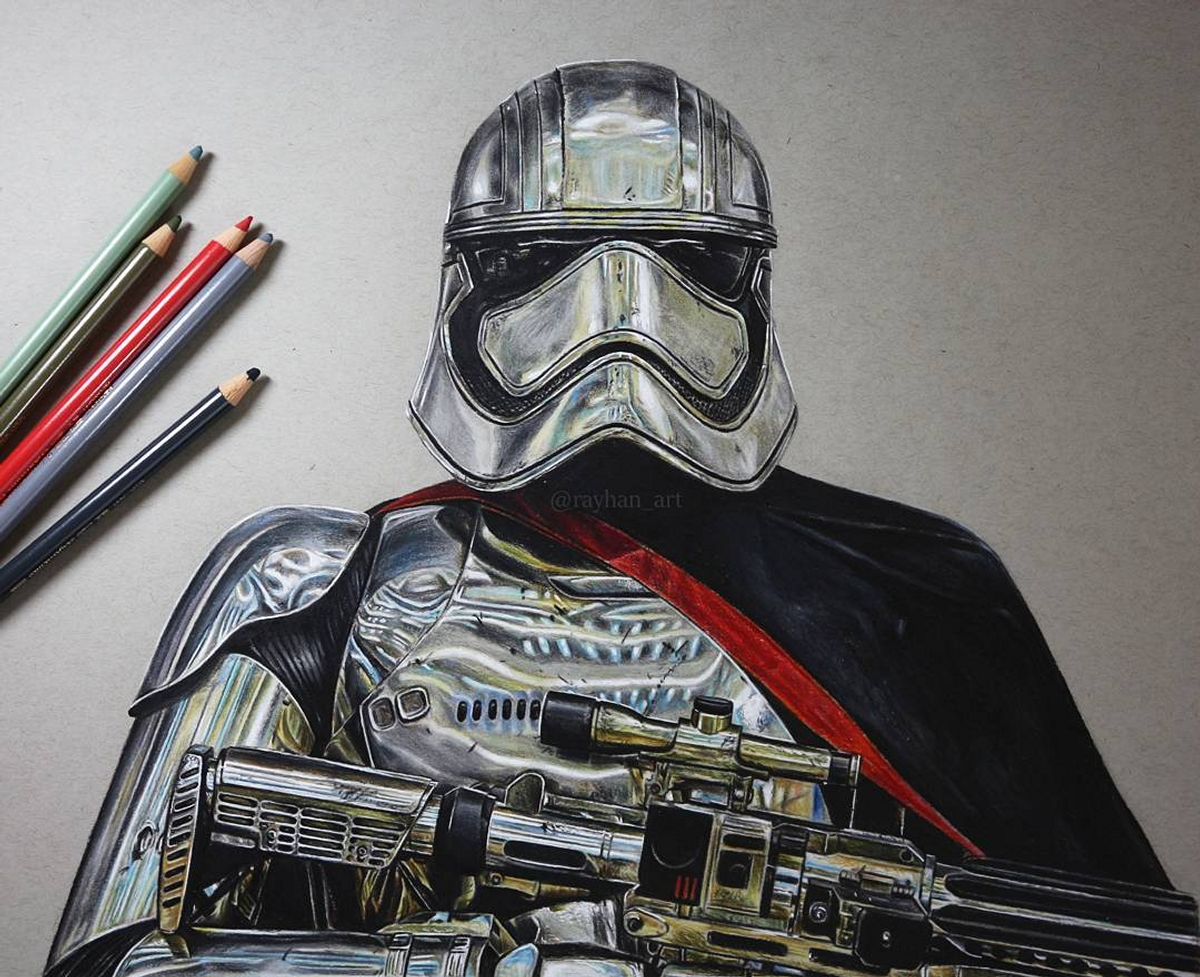 02-Captain-Phasma-Rayhan-Miah-Movie-Characters-Drawings-and-More-www-designstack-co
