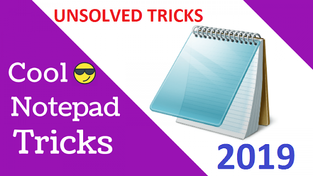 Cool Notepad Tricks For Windows Latest Trick 2019 Cover Photo