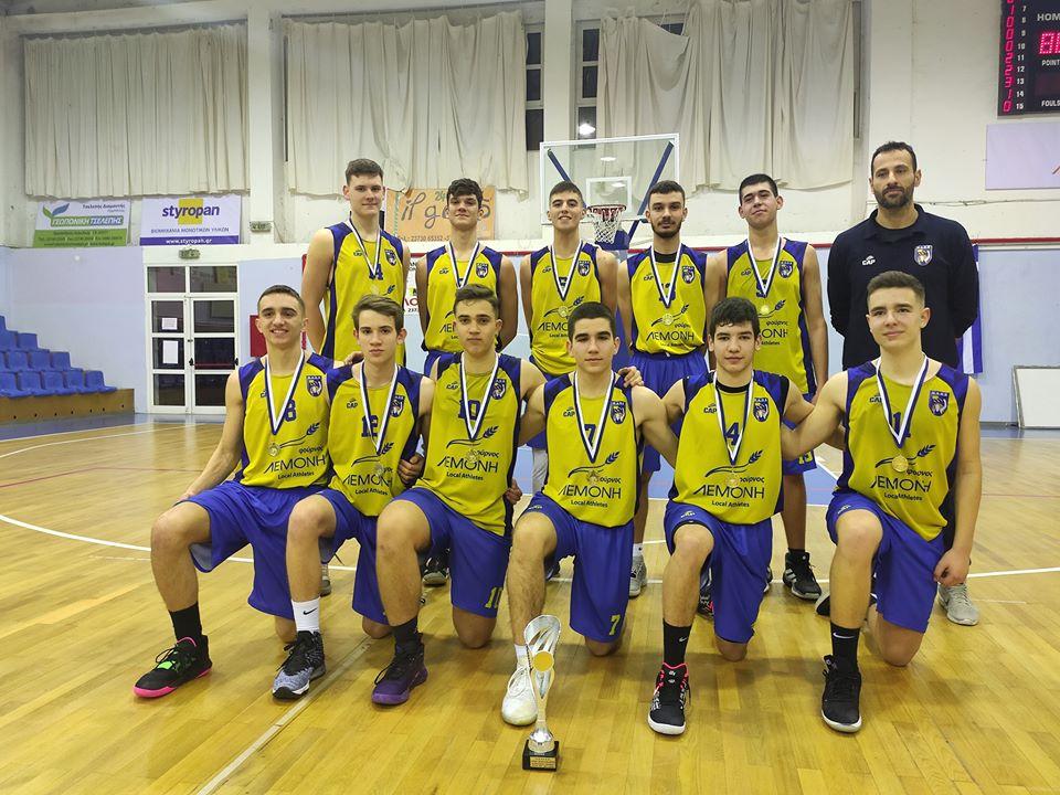 Η ομάδα του ΚΑΟΧ πρωταθλητής εφήβων Χαλκιδικής 2019-2020