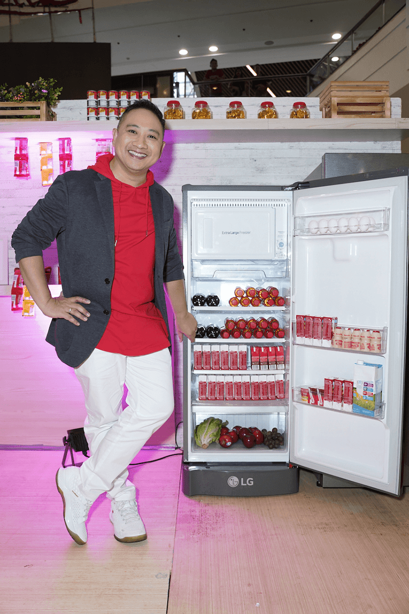 Michael V. with one of LG's commercial refrigerators