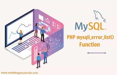 PHP mysqli_error_list() Function