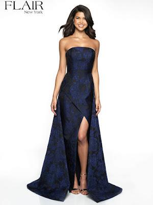 Brocade Overlay Fair Prom Sapphire color dress