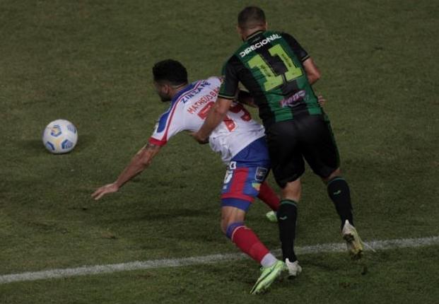 Em jogo de 7 gols, Bahia perde em casa para o América-MG