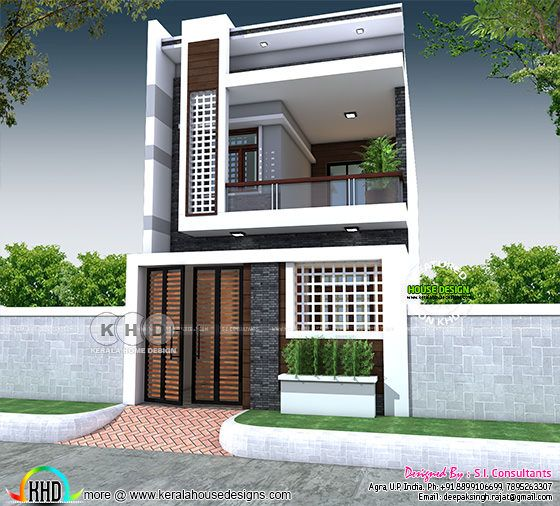 20'x55' North Indian home in Modern style