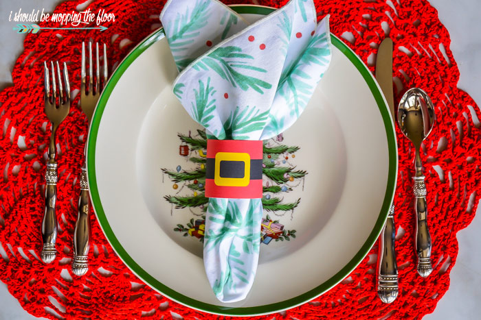 Printable Christmas Napkin Rings