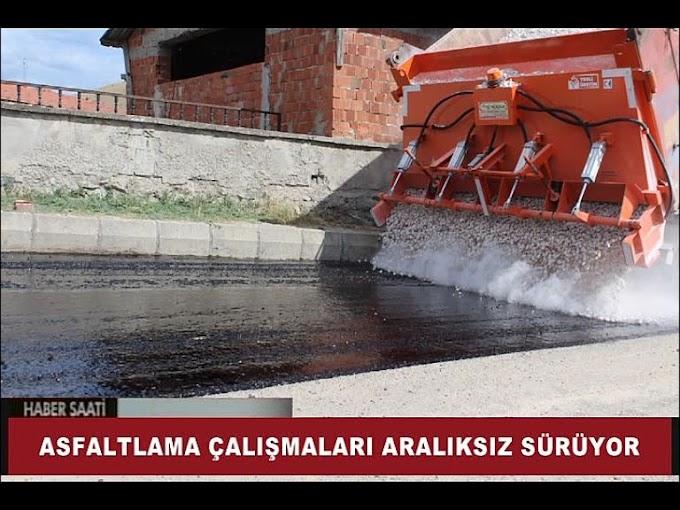 Turhal Belediyesi Fen İşleri Müdürlüğü ekipleri asfalt çalışmalarına hız verdi