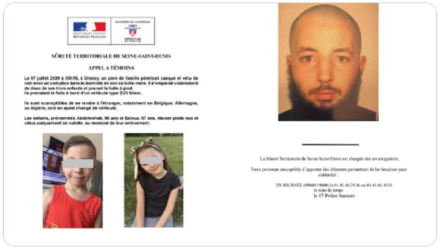 Appel à témoins : Cet homme potentiellement « très dangereux » recherché par la police pour avoir enlevé ses enfants