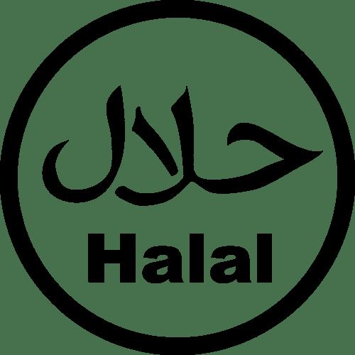 Halal Logo Circle Logo Free PNG File