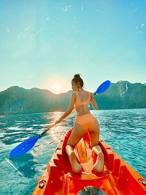 Chùm ảnh Phương Trinh Jolie du lịch Vịnh Hạ Long cực xinh 2