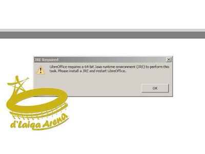 LibreOffice 7.0 Membutuhkan Java Runtime Environment (JRE)