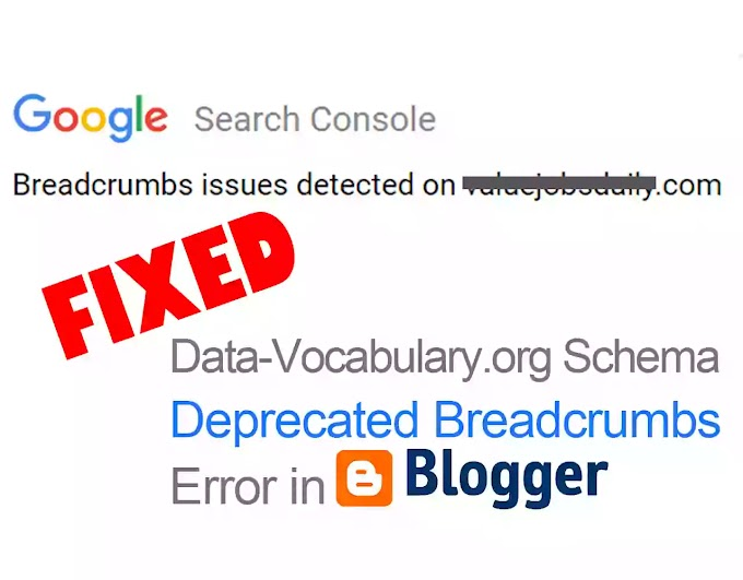 Breadcrumbs Error 2021 - How to fix Data Vocabulary Schema Error 2021