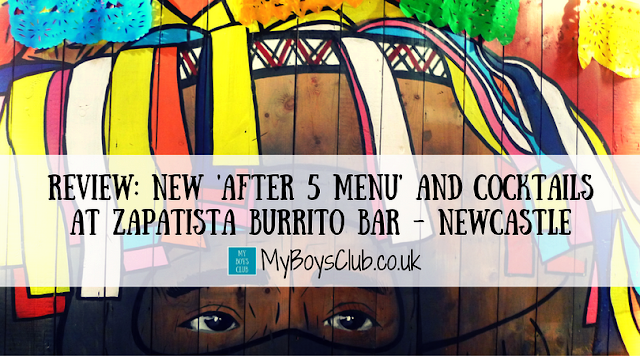 Review: After 5 Menu and Cocktails at Zapatista Burrito Bar in Newcastle