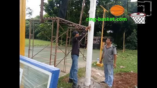 ring basket dan tiang basket di Bogor