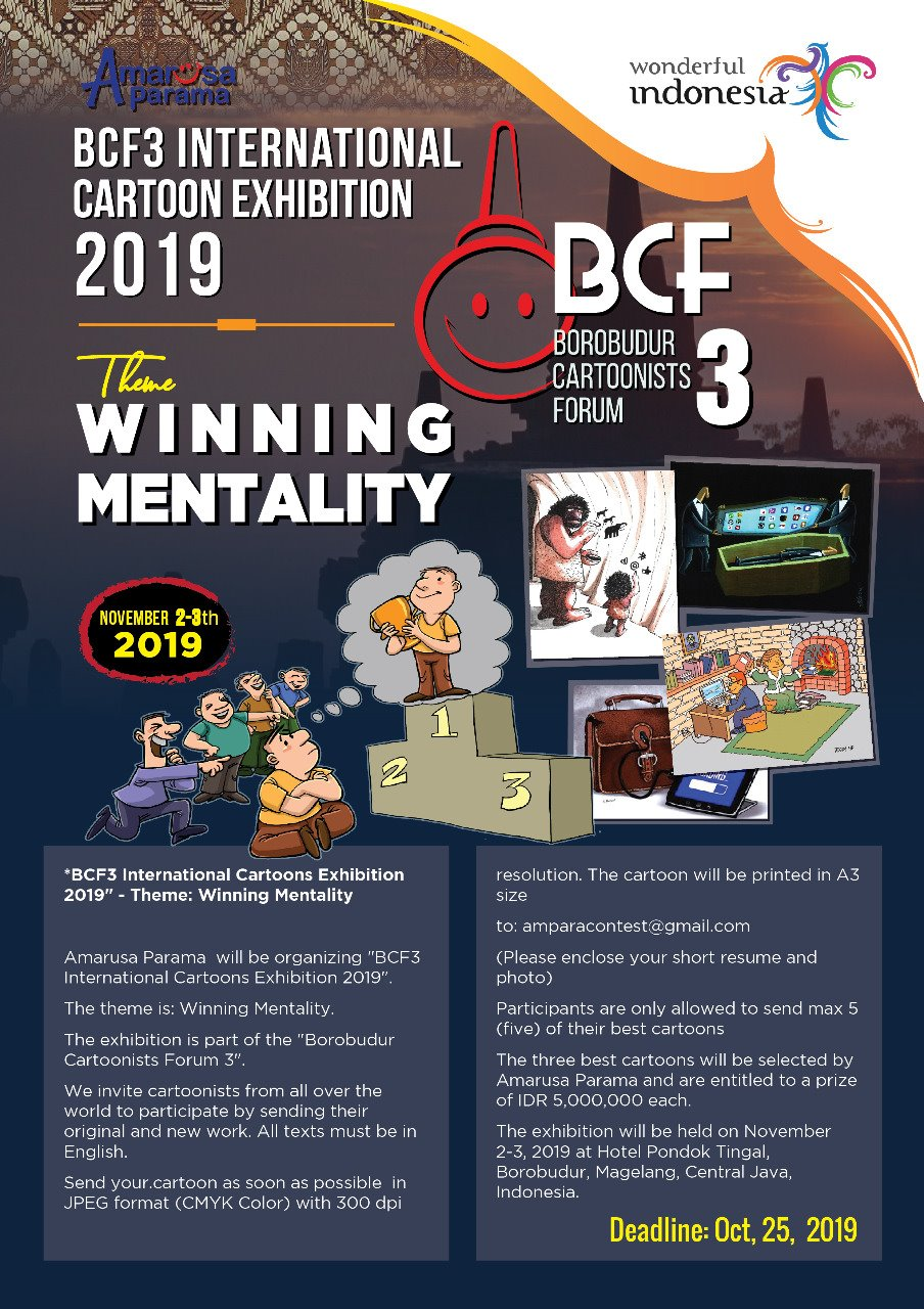 BCF3 International Cartoons Exhibition 2019 - goldpencil id