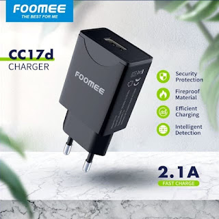 Adaptor Foomee CC17D Batok Charger Single USB Port Adapter 2.1A