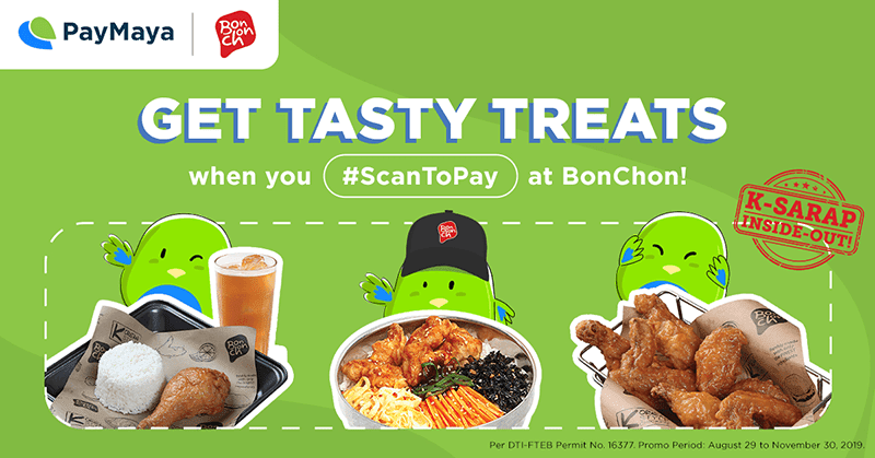 Use PayMaya QR and get a chance to win 1 year of BonChon