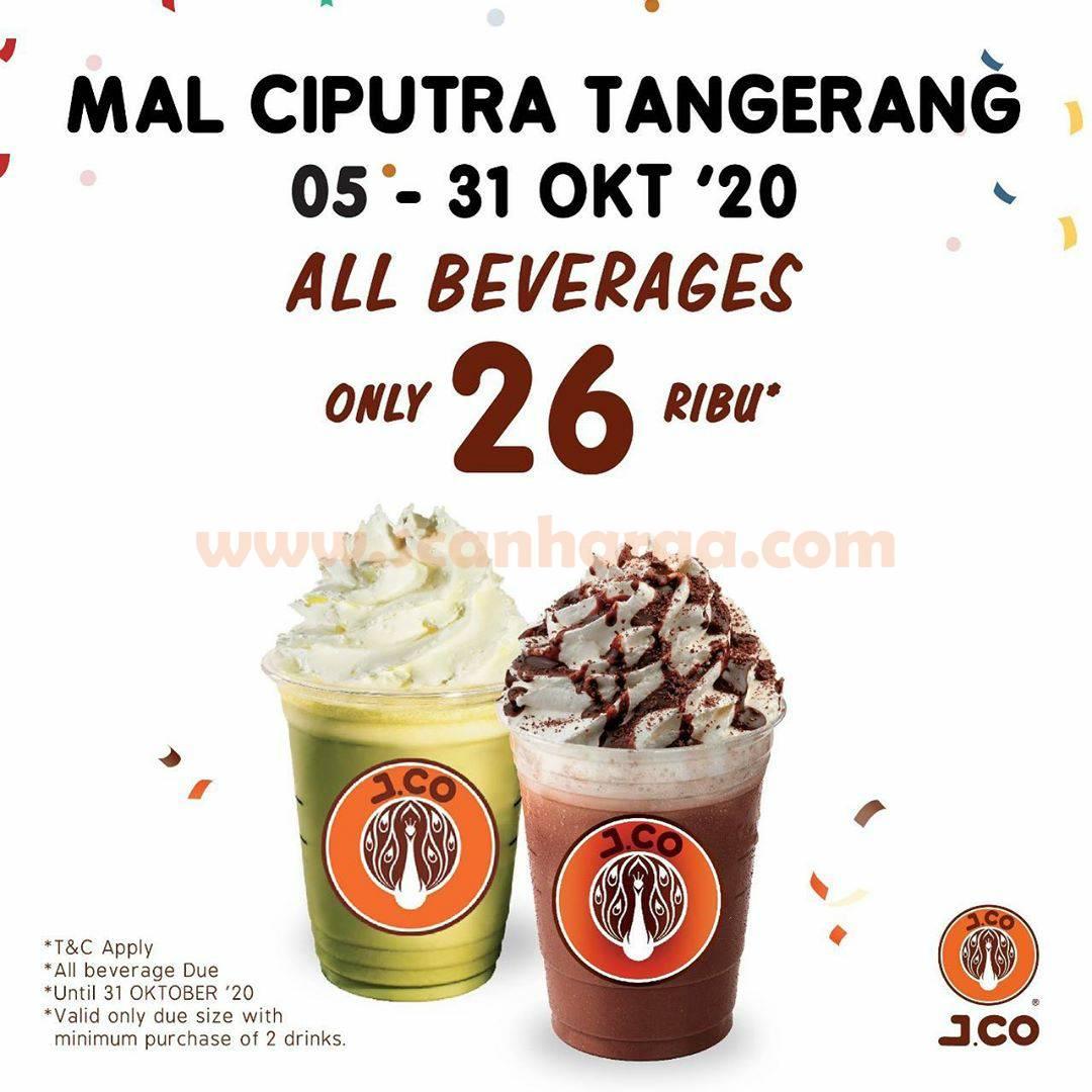 JCO Mal Ciputra Tangerang Promo All Beverages Only 26 Ribu