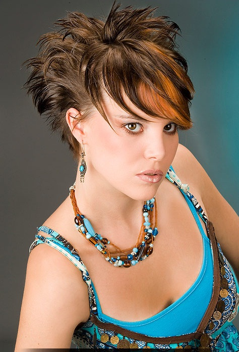 Prom hairstyles are of different kinds: Short choppy ...
