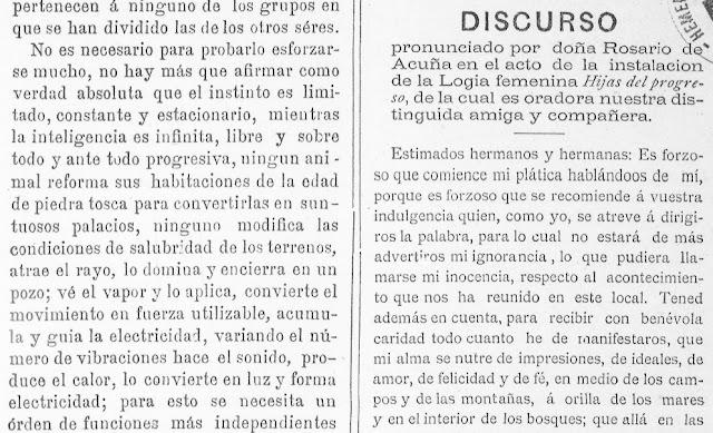 Fragmento del discurso publicado en La Humanidad, Alicante, 20/11/1888
