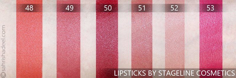 Stageline Cosmetics Lipsticks - Review & Swatches
