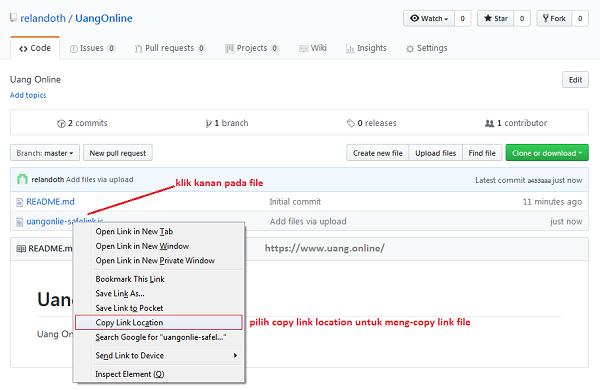 Cara Upload File HTML JavaScript dan CSS di GitHUb