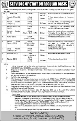 FGEHA Jobs 2021 Apply Online – Federal Government Employees Housing Authority Jobs