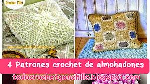 4 Patrones de Almohadones Fantásticos Tejidos al Crochet