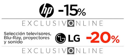 Top 10 ofertas promociones ¡Solo 3 días! en HP, LG y Sony de El Corte Inglés