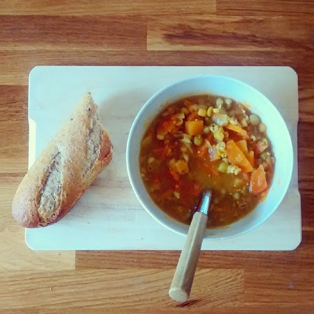 Pearl Barley and veg soup