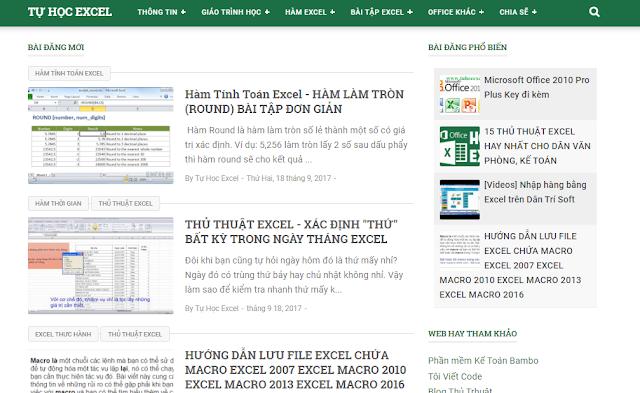 Share theme Tự học Excel (tuhocexcel.net) đã dùng - V02