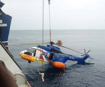 bristow helicopter crashed lagos