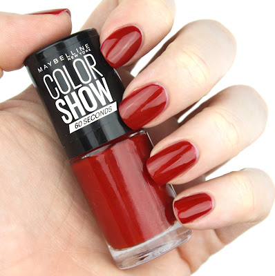 maybelline colour show 30 seconds nail polish 15 candy apple review swatch swatches