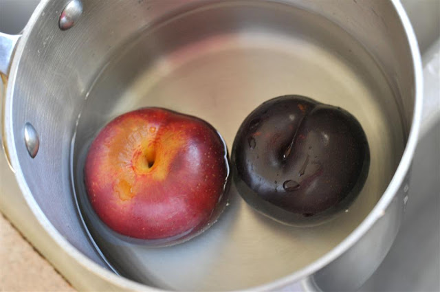 Peeling Plums For Baby Food