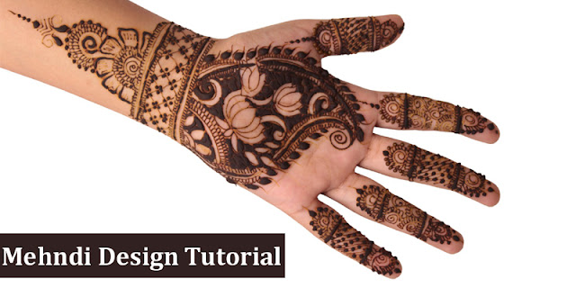 Indian And Pakistani Mehndi Design Tutorial - Simple Flower Pattern