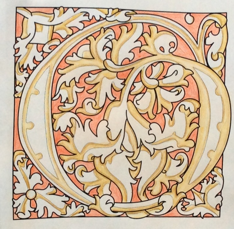 Medieval Alphabet Coloring Pages : Colouring with prue glorious illuminated letters a