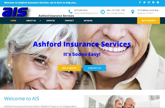 Ashford Insurance Services Website Update