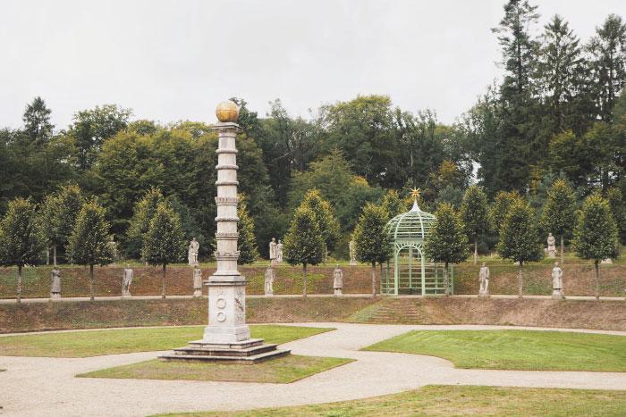 Parc du château du palais royal de Fredensborg au Danemark